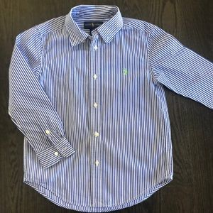 Like new Ralph Lauren button up shirt boys 6